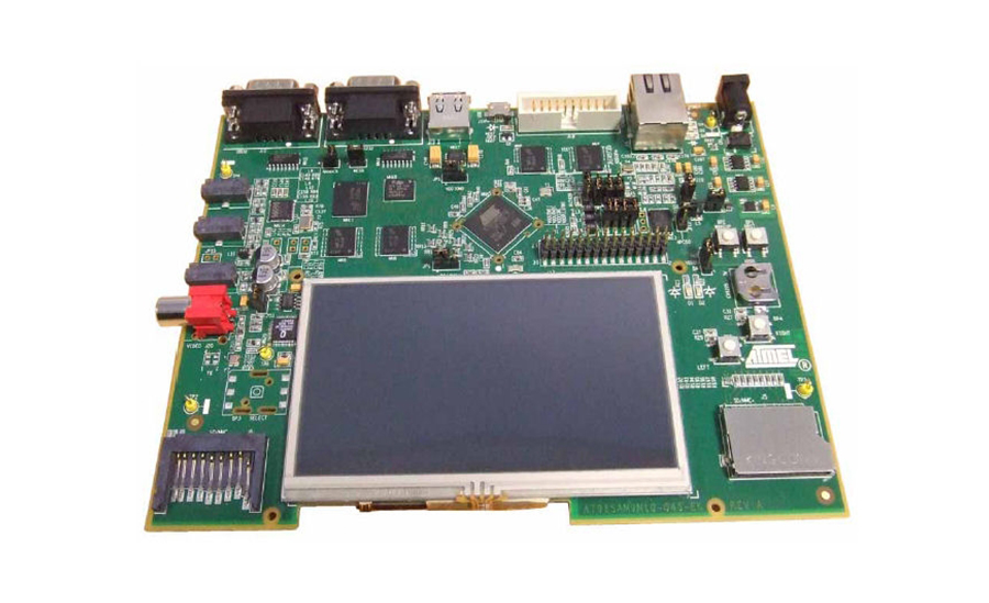 Circuit board with large LCD