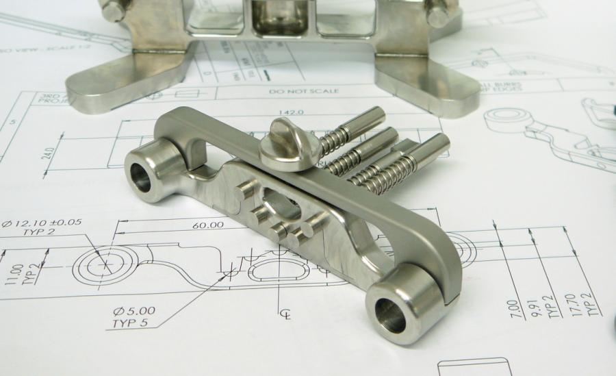 Precision machined stainless steel parts for medical device