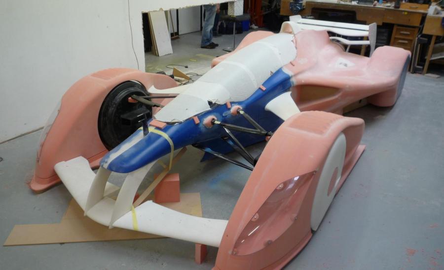 Redbull concept car Model during manucature