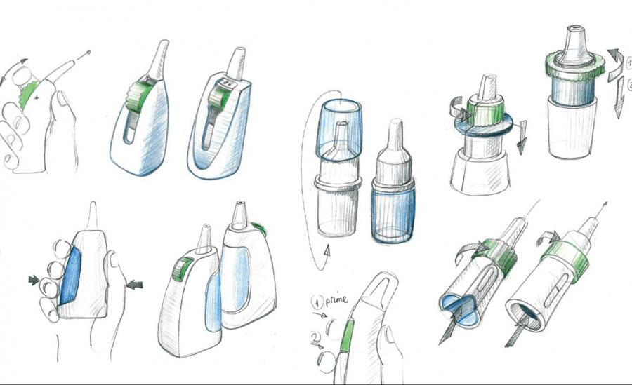 Use concepts of the dry powder nasal device