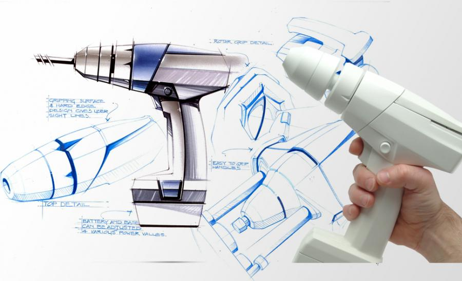IDC's design sketches for power tools