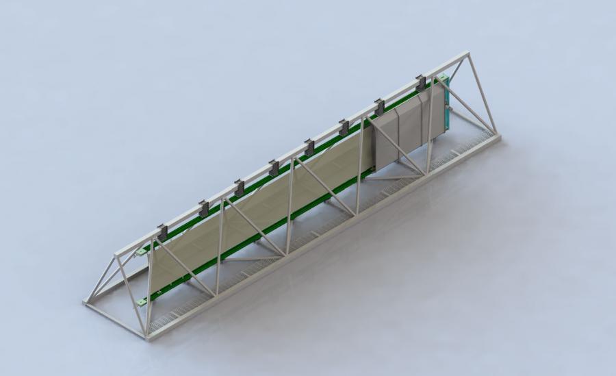 Prototype of retractable windsail