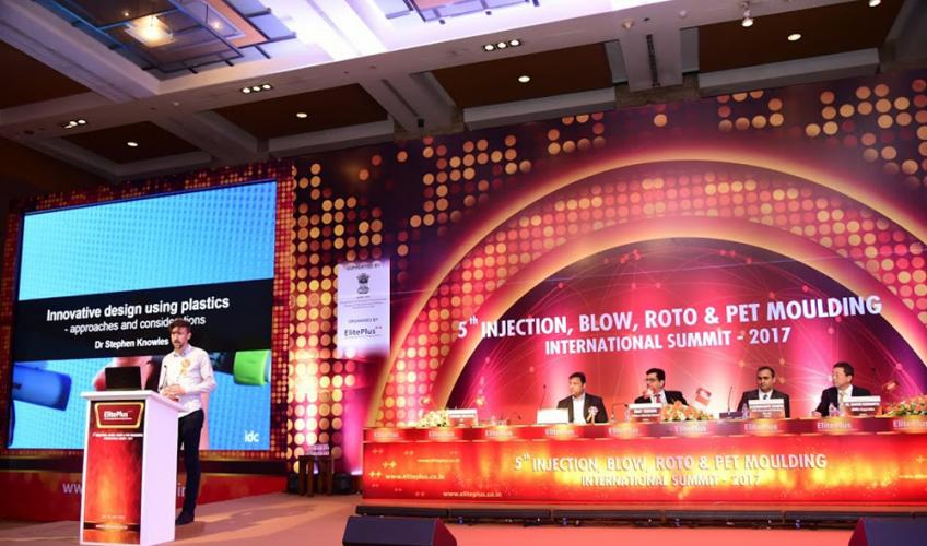 Stephen Knowles Speaking at the 5th Injection, Blow, Roto & PET Moulding Summit in Mumbai