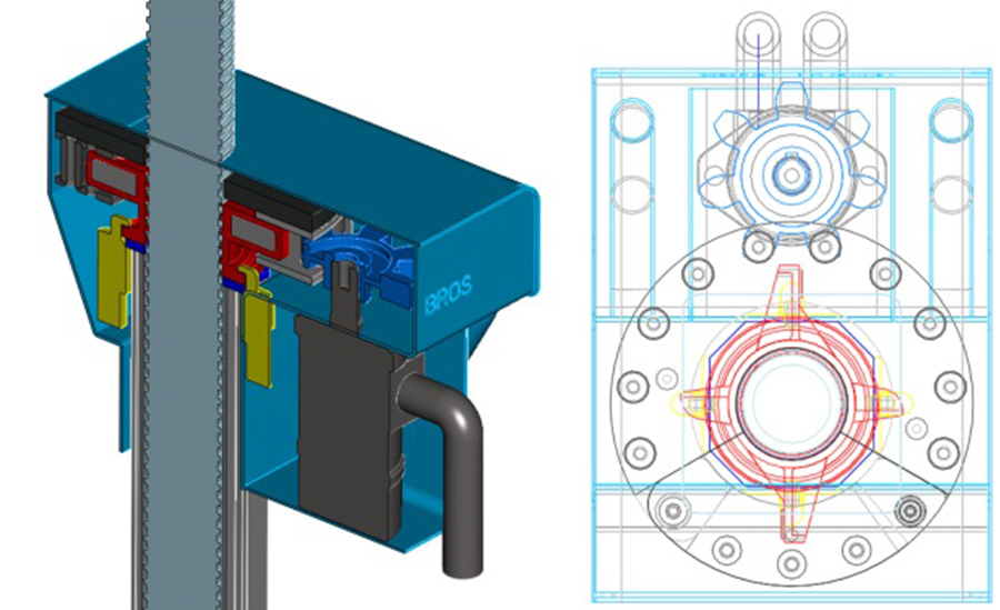 CAD design of prototype power tool mechanism using a hydraulic motor