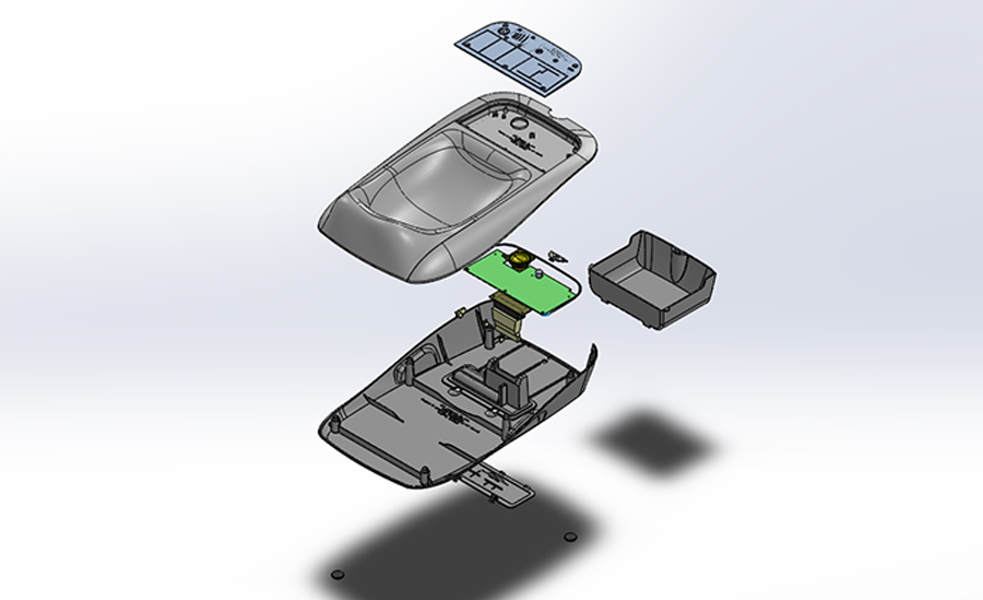 exploded view of the CPR assistant