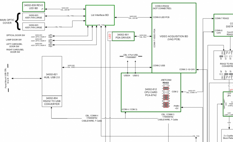 Electrical system circuit schematic diagram