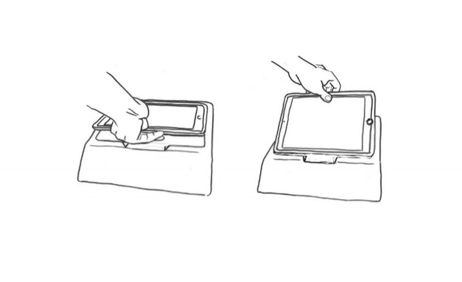 Concept Sketches of iPad in Muscle Recovery Device