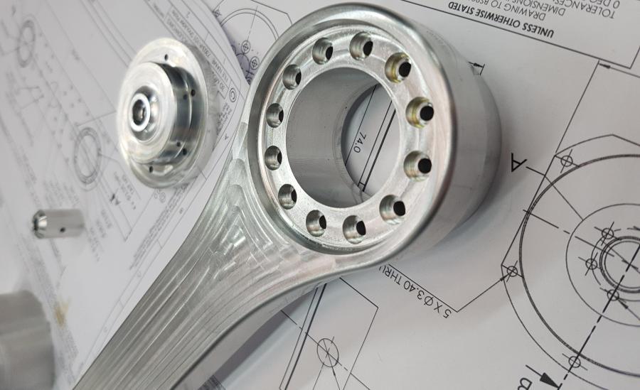 Aluminium Arm Components Precision Machined