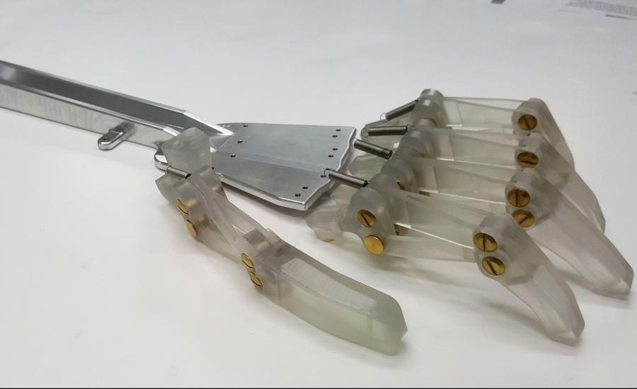 SLA Printed Components formed RAVI's Fingers