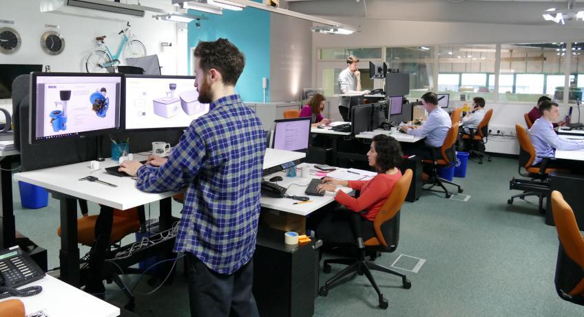 IDC's Design Studio with Electronic Adjustable Desks