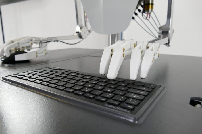 Robot Designed by IDC to Type at a Computer