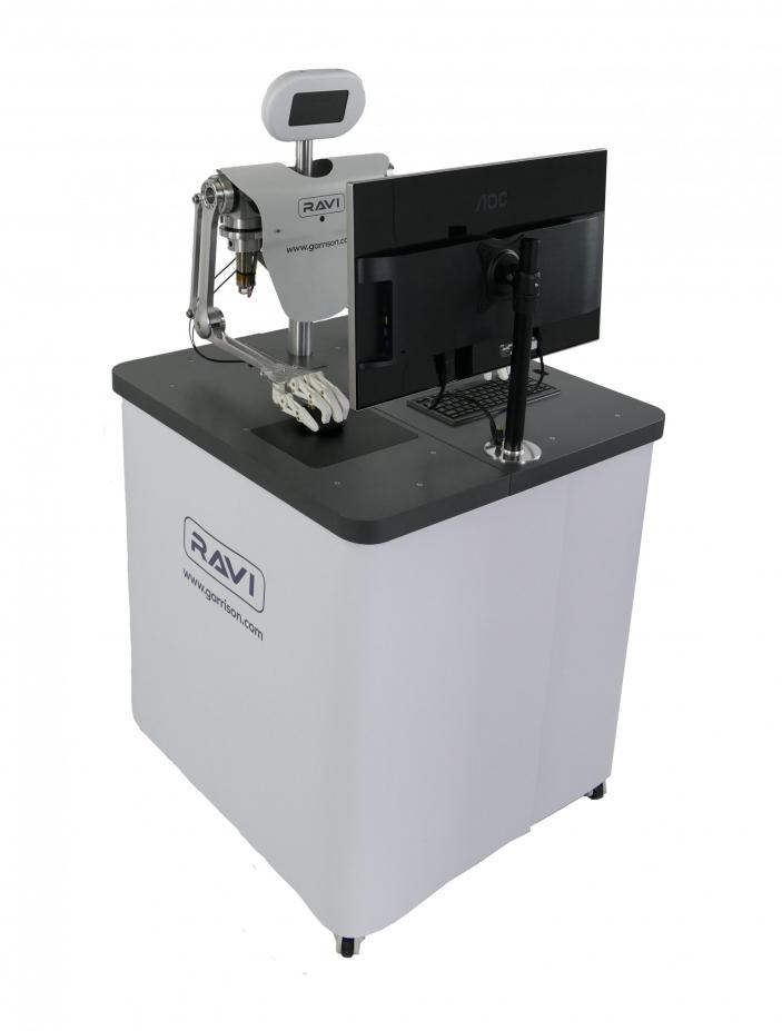 RAVI Robot on Display Stand with Graphics Wrap in Place