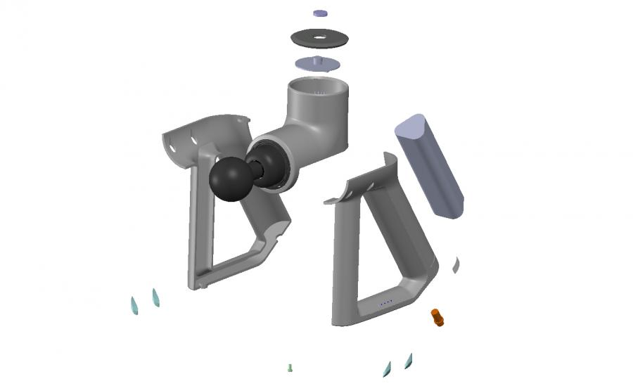 CAD Assembly Layout for Massage Gun